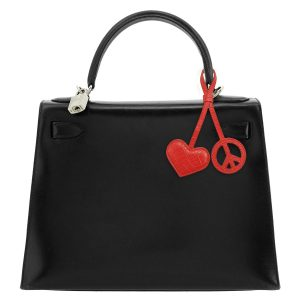 Peace and Love Twin Red Charm
